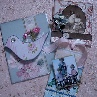 Pink and blue tags