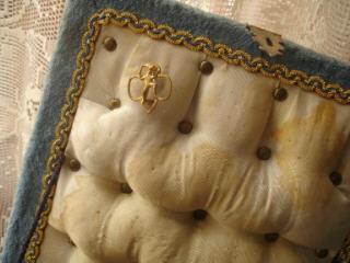 Velvet sewing box