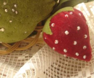 Strawberry pinchushion