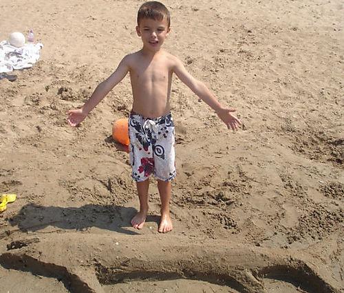 Caleb caught a fish THIS big