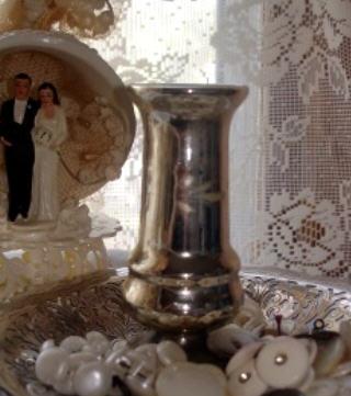 Mecury glass vase