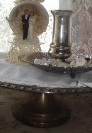 Silver pedestal