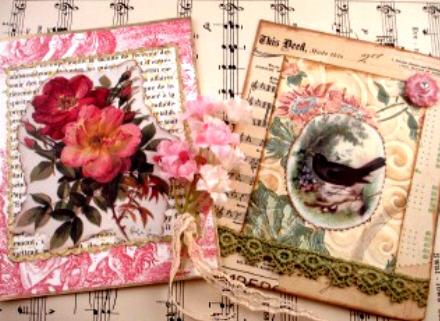 Roses & blackbird