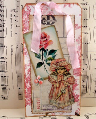 Little miss with rose card