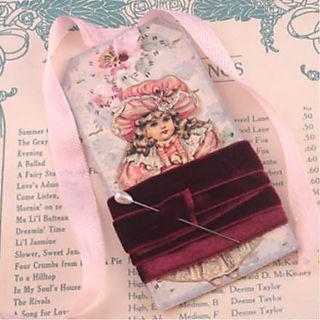 Velvet ribbon tag