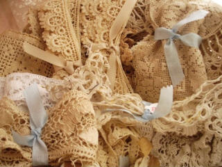Lace in basket