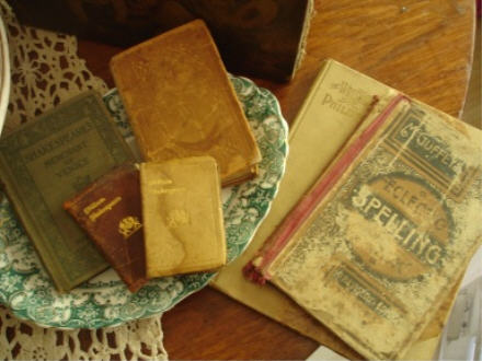 Books on plate