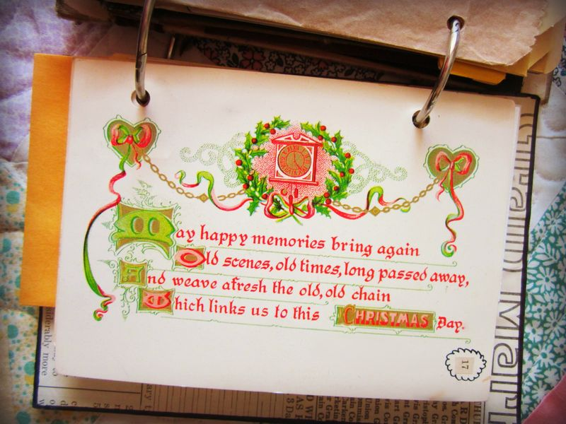 Christmas journal page