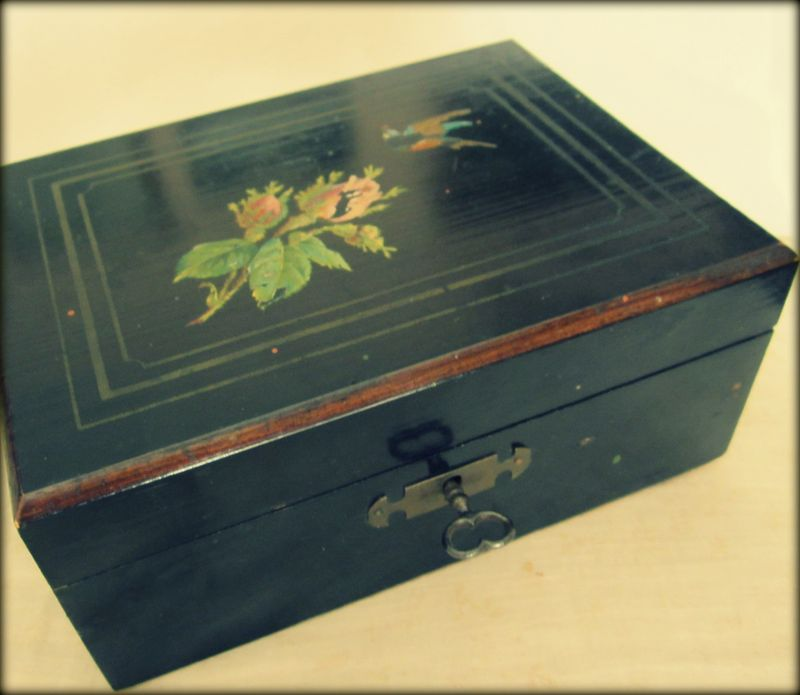 Black sewing box