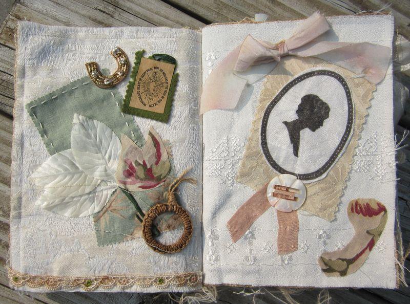 Fabric book page bleintz