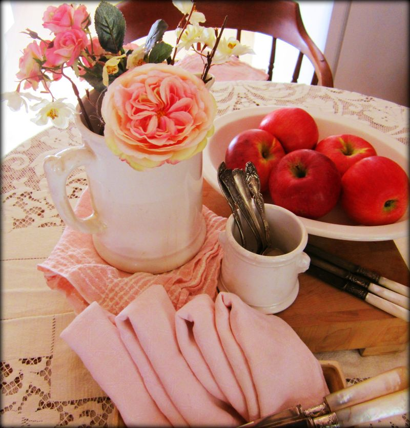 Pink table top