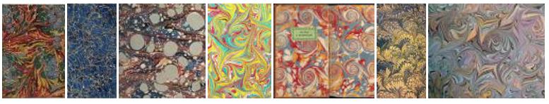 Paper marbling samples