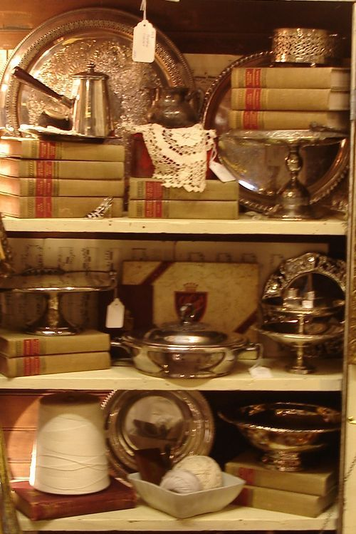 Books and silverplate