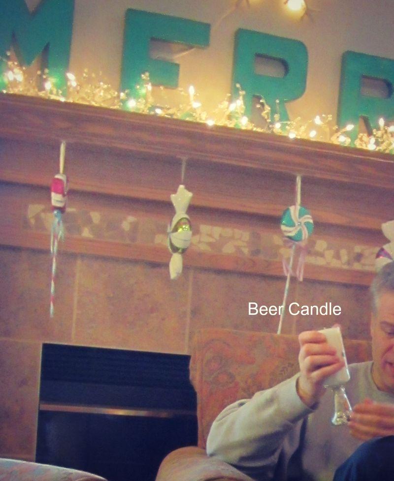 Beeer candle