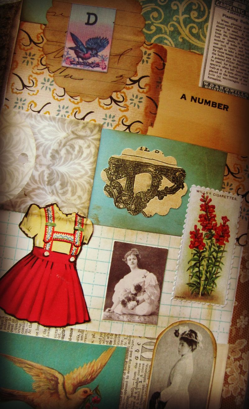 Journal page patchwork