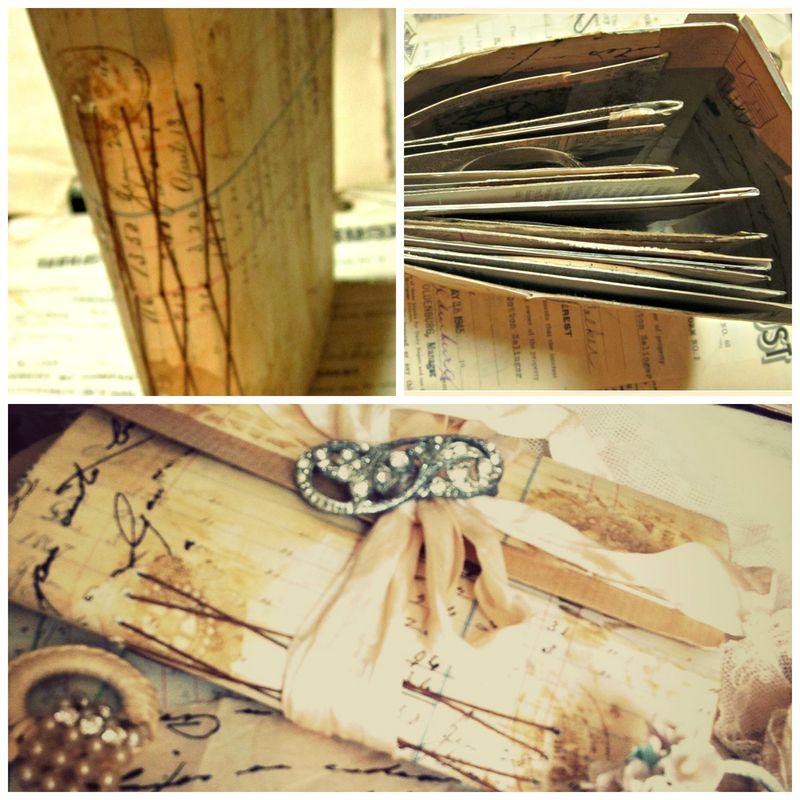 Postcard journal collage