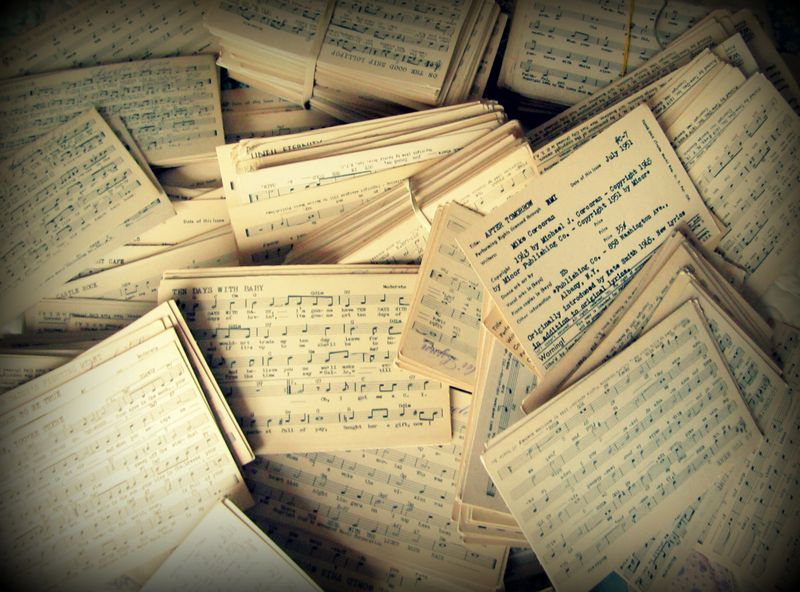 Music index cards