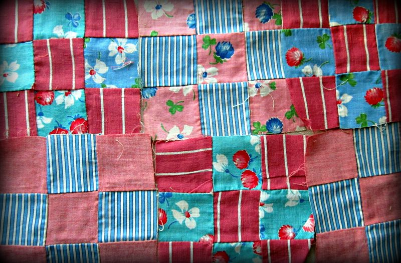 Nine patch pink blue