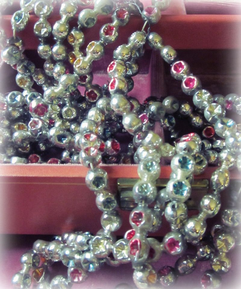 Mercury glass garland
