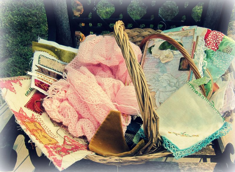 Basket of crafts
