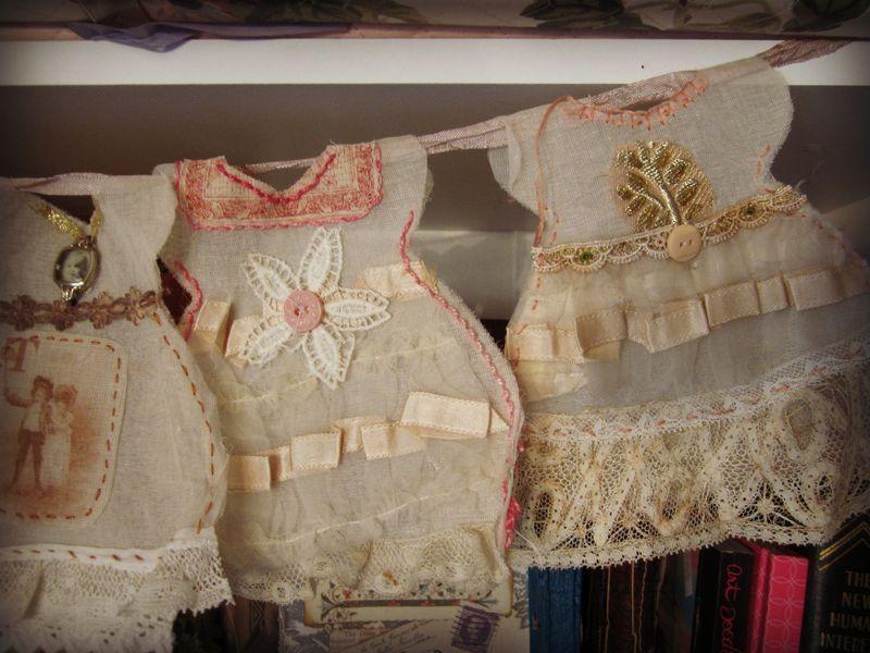 Dress garland details